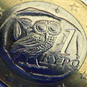 Greek euro coin ©Belga/DPA