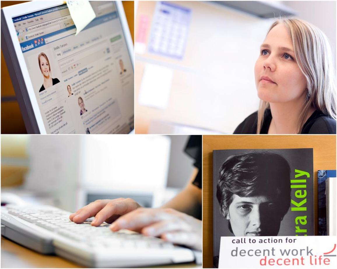 Der erste Facebook-Chat auf der Seite des EU-Parlaments mit der Abgeordneten Emilie Turunen im November 2009
