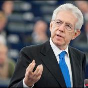 Italian Prime Minister Mario Monti addresses the EP chamber