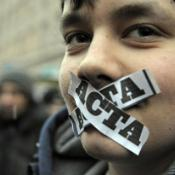 Picture of protest against ACTA