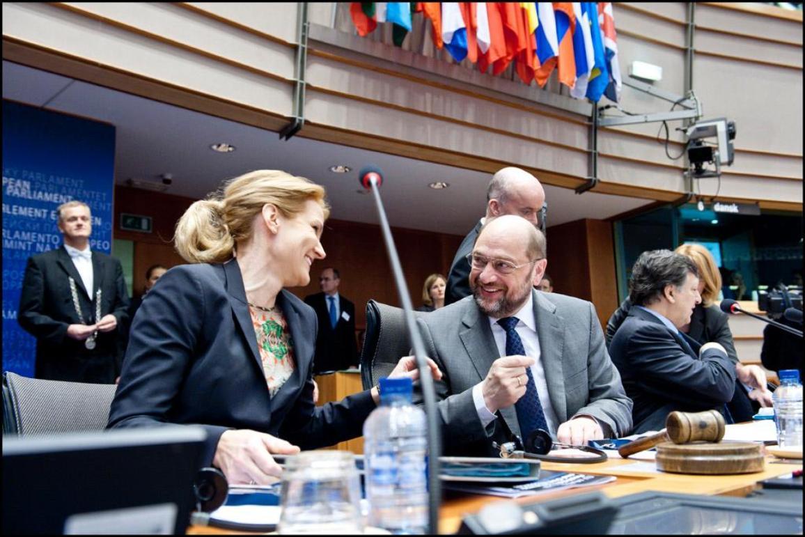 Konferens om EU:s nästa långtidsbudget: EP:s talman Martin Schulz och Danmarks statsminister Helle Thorning-Schmidt