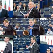 I capigruppo si confrontano sulle conclusioni del Summit europeo durante la sessione plenaria.
