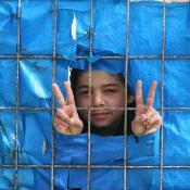 Un enfant syrien réfugié dans le camp de Yayladagi le 26 mars 2012. ©BELGA/AFP/A.Altan