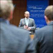 Martin Schulz lors de la minute de silence, le 29 mars.