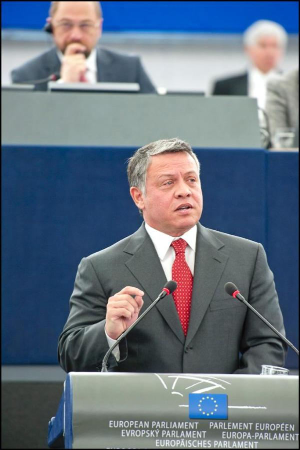 El rey Abdalá II de Jordania insistió en la importancia de las relaciones del país y la UE