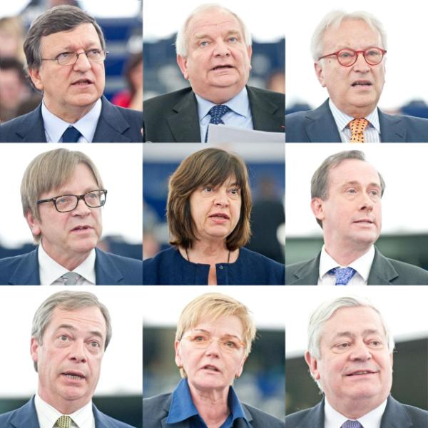 Photos of MEPs who took part in the crisis debate