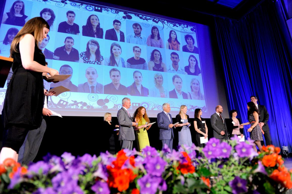 The ceremony of the Charlemagne Youth Prize 2011 in Achen