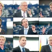 Corien Wortmann-Kool (PPE), Hannes Swoboda (S&D), Guy Verhofstadt (ALDE), Rebecca Harms (Verts/ALE), Martin Callanan (ECR), Nigel Farage (EFD), Gabriele Zimmer (GUE/NGL), Nicolai Wammen (Council), Olli  Rehn (Commissioner)