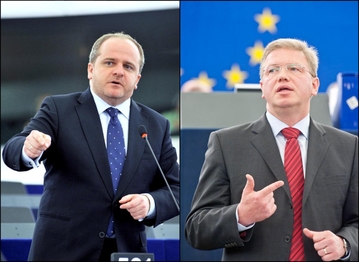 MEP Pawel Robert Kowal and Commissioner Štefan Füle  are pictured during the debate