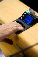 machine for electronic vote in the EP