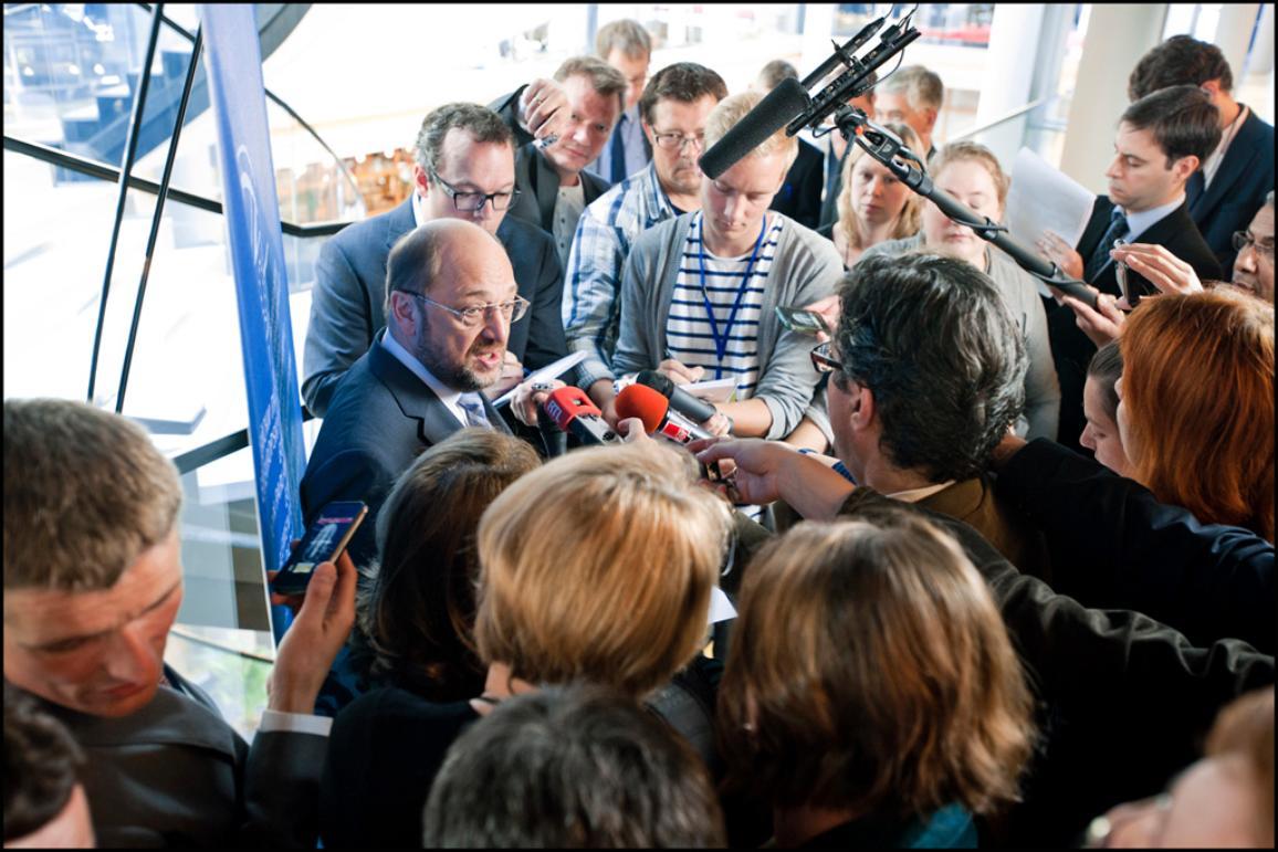 Martin Schulz en conférence de presse