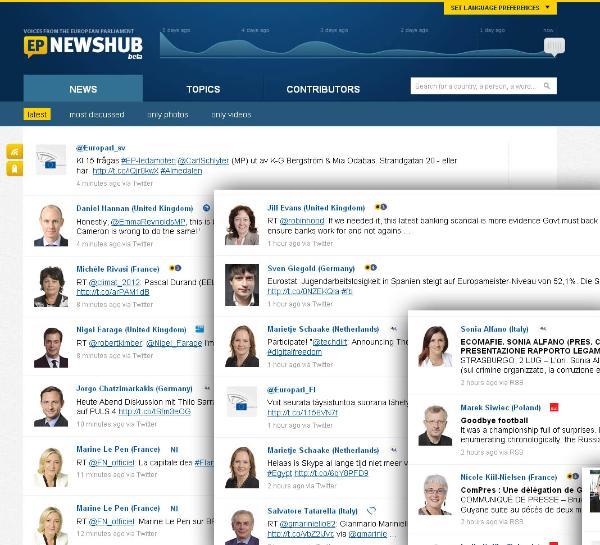EP Newshub on uudenlainen palvelu parlamentin sidosryhmille.