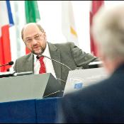 EP President Martin Schulz takes the floor during the opening of July plenary session