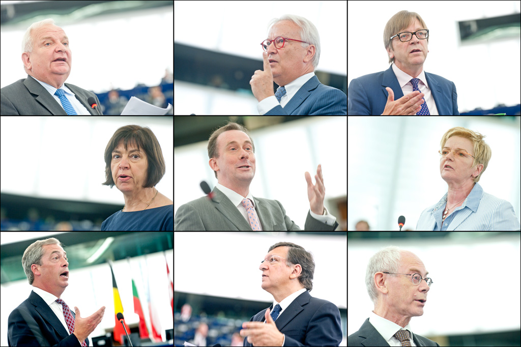 Liderii grupurilor politici și reprezentanți ai Comisiei și Consiliului