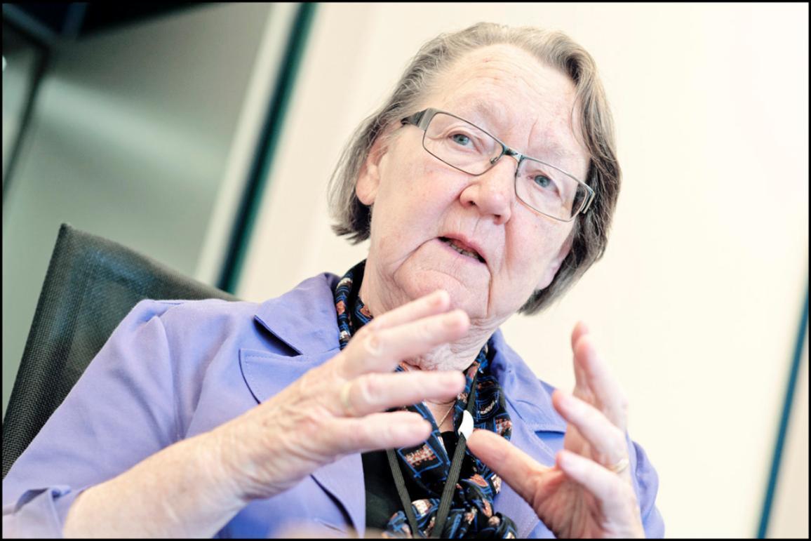 La eurodiputada sueca Marit Paulsen, durante la entrevista