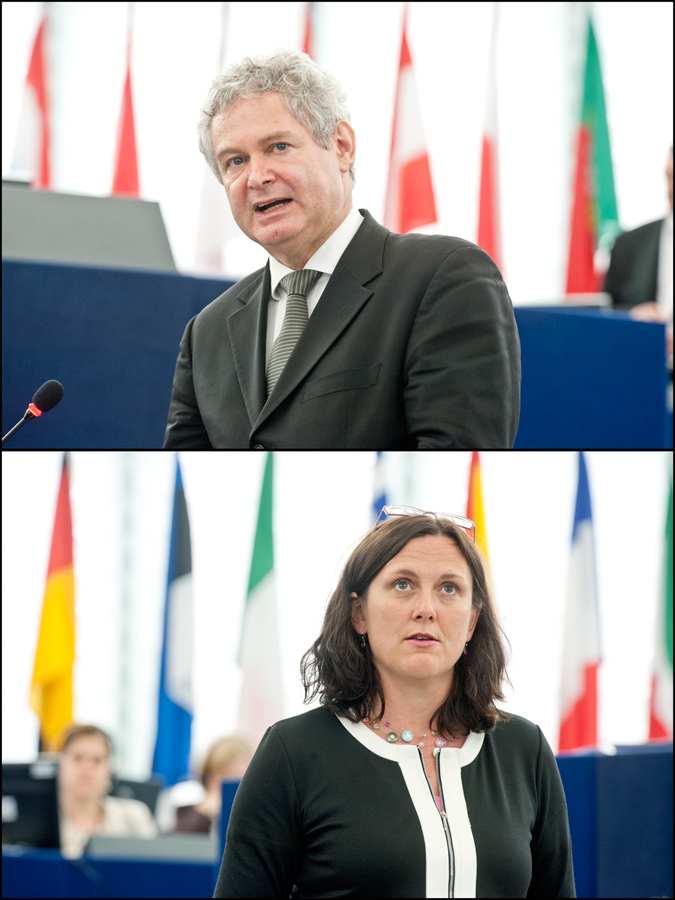 Andreas Mavroyiannis și Cecilia Malmström