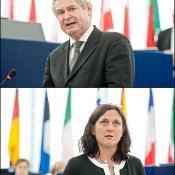 Für die Ratspräsidentschaft sprach Andreas Mavroyiannis (oben), die Kommission wurde durch Cecilia Malmström vertreten