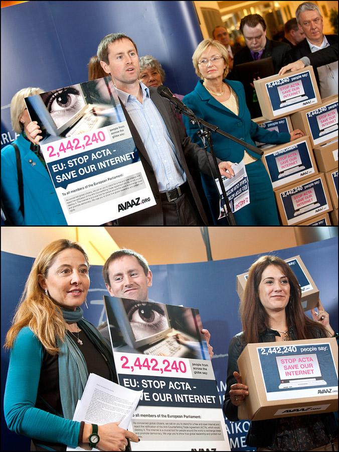 Prezentarea petiției AVAAZ la Parlamentul European