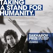 Cartel del Premio Sájarov 2012