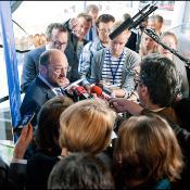 Pressekonferenz mit Parlamentspräsident Martin Schulz