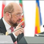Parlamentspräsident Martin Schulz während der Eröffnung der Sitzungswoche