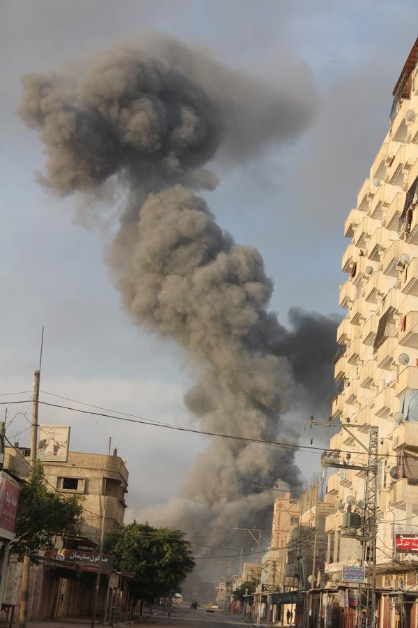 Gaza conflict : MEPs support  immediate ceasefire  © Gaza_BELGA/XINHUA/K. Omar
