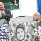El Presidente de la Eurocámara Martin Schulz  durante la entrega el Prémio Sájarov 2012