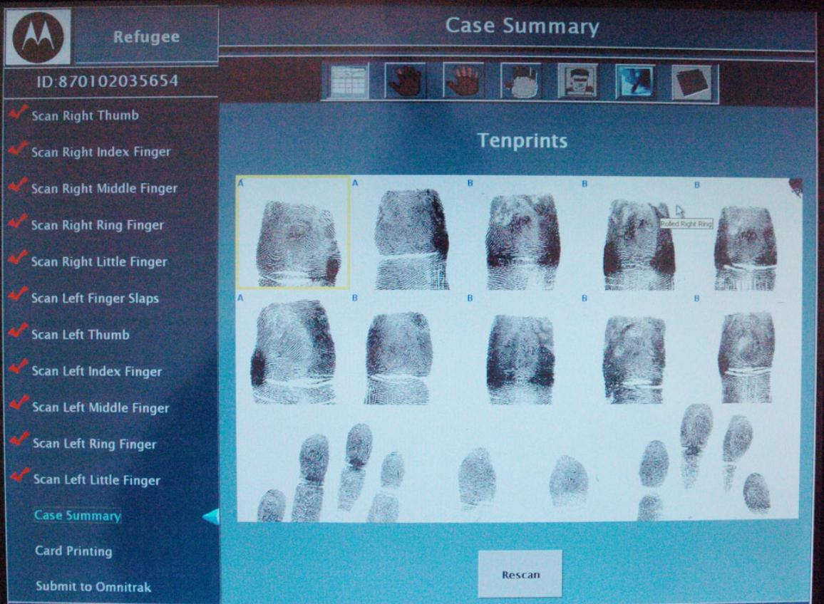 Illustration picture of fingerprints