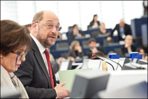 EP President Martin Schulz during the opening of the session