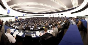 Panoramic photo of the EP hemicycle in Strasbourg