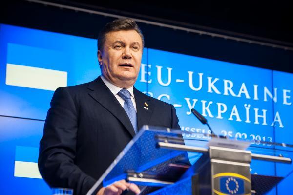 Ukrainian president Viktor Fedorovych