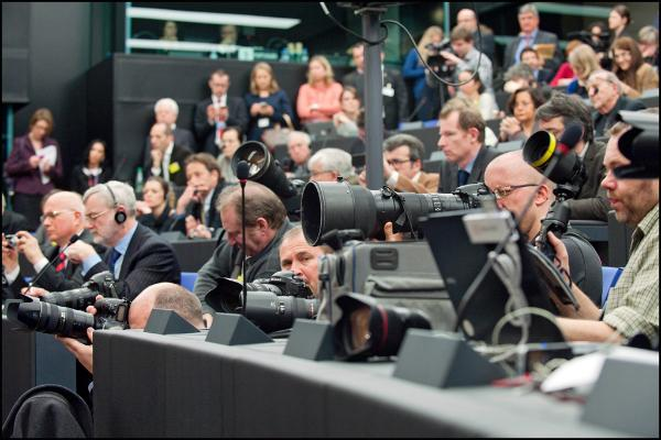 Journalisten und Fotografen