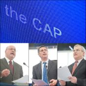 Luis Manuel Capoulas Santos, Giovanni La Via and Michel Dantin, the three rapporteurs on the CAP reform