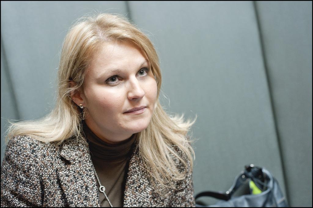 Imagen de la eurodiputada liberal alemana Nadja Hirsch