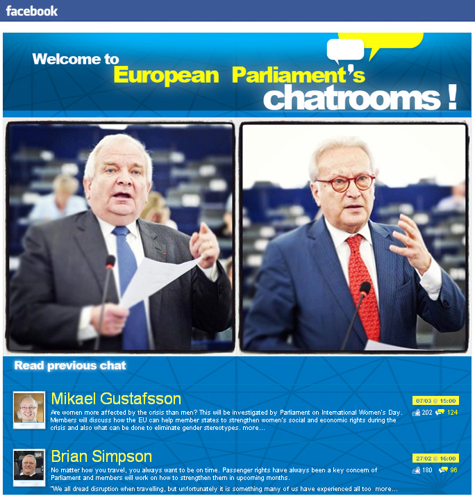 Joseph Daul și Hannes Swoboda