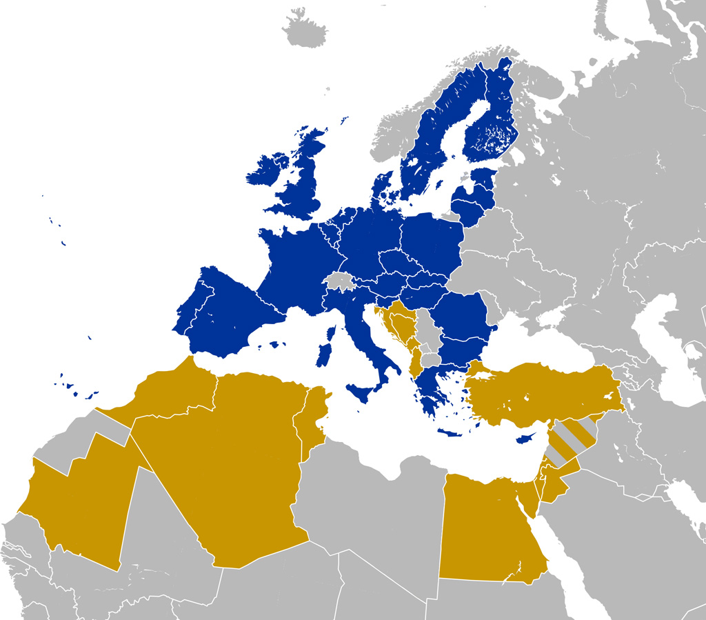 Union for the Mediterranean time for parliaments to play their – Map of Arab Spring Countries
