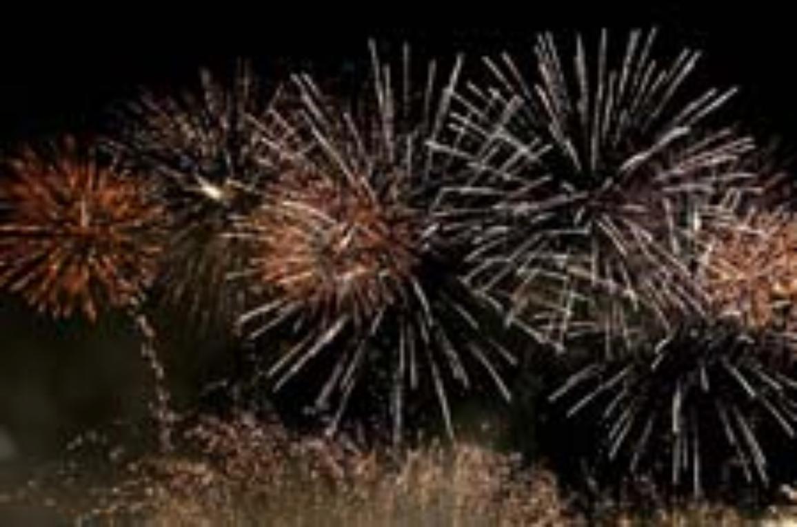 Fogo de artificio no céu