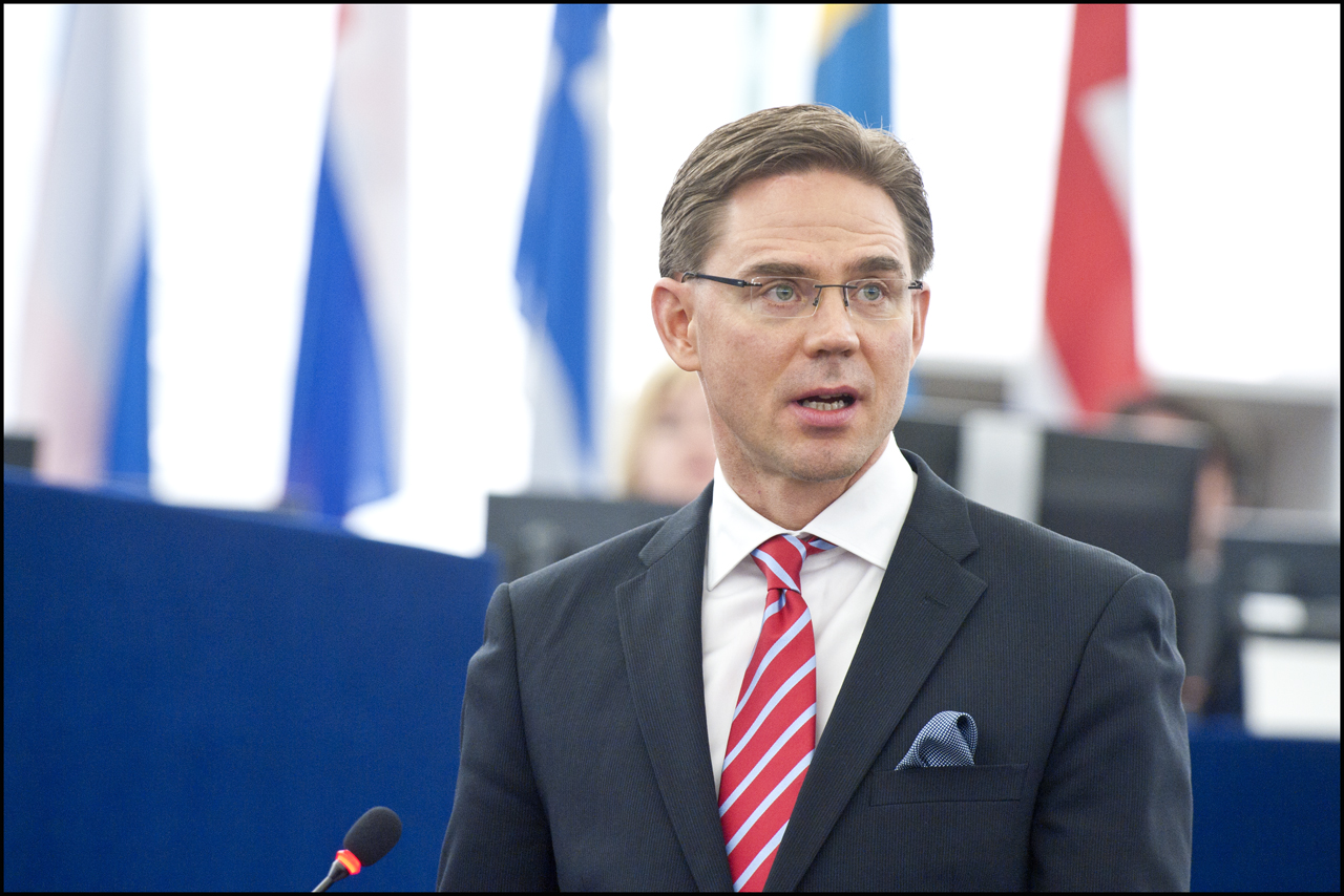 Finnish prime minister Jyrki Katainen during the debate on the future of Europe
