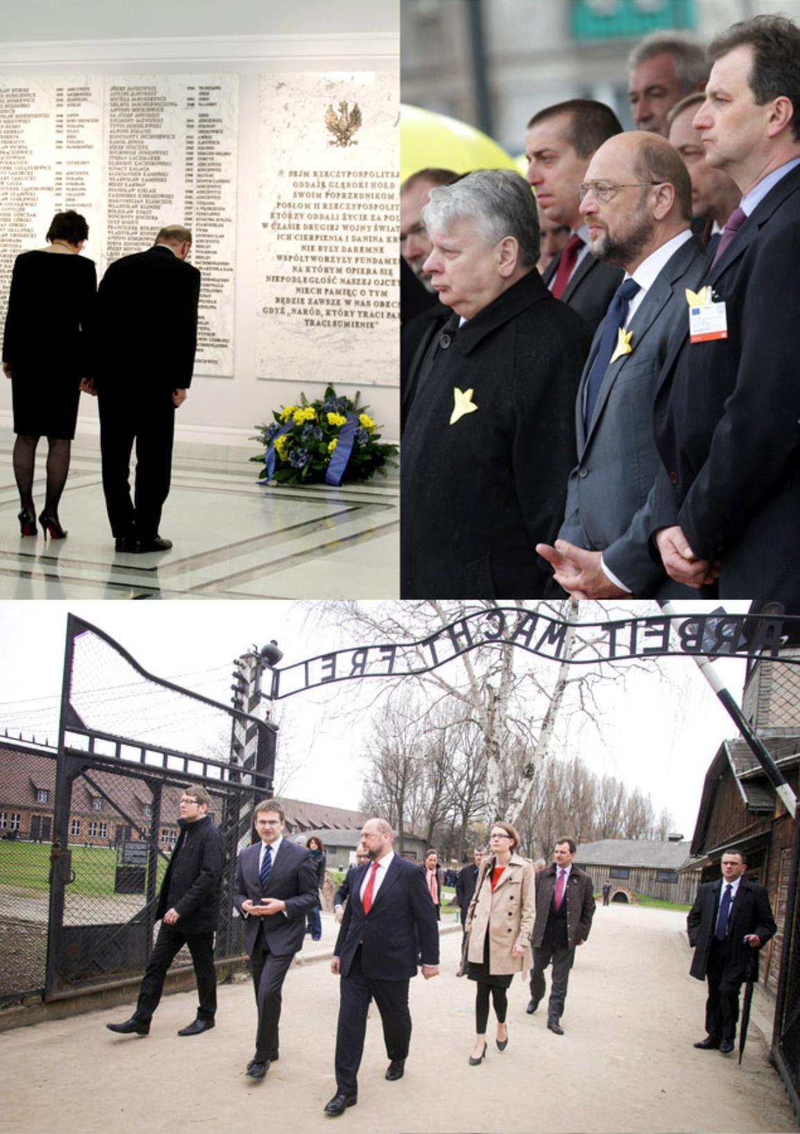 EP-Präsident Martin Schulz gedenkt der Opfer des Aufstandes im Warschauer Ghetto und besucht Auschwitz-Birkenau