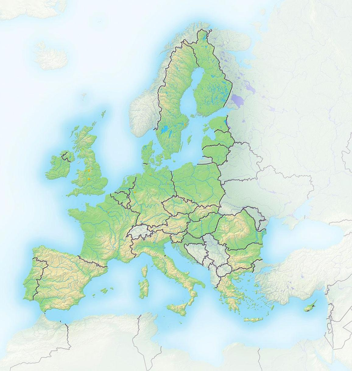 EU enlargement relief map