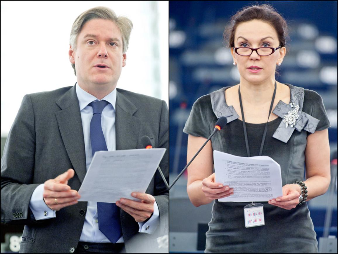 Haastattelussa Antonio López-Istúriz ja Antonia Parvanova.
