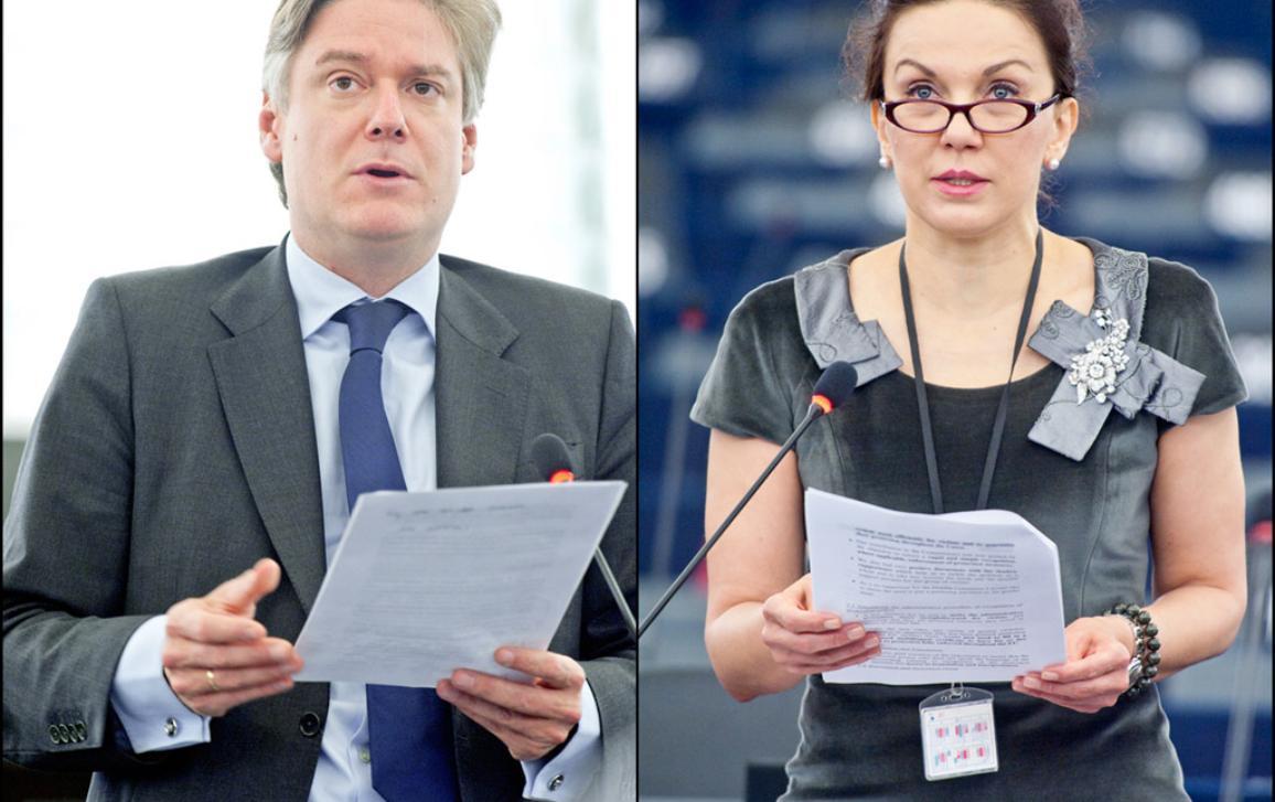EP nuomonės rengėjai Antonio López–Istúriz (dešinėje) ir Antonia Parvanova