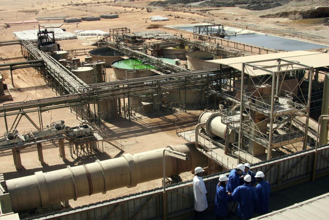mineral treatment plant near uranium opencast mine in Arlit, Niger