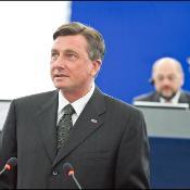 Slovenian presidentti Borut Pahor puhui parlamentin täysistunnossa.