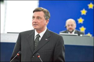 The President of Slovenia, Borut Pahor, delivered a formal address to the European Parliament on Tuesday 11 of June 2013 at noon.