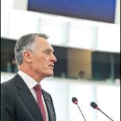Portugalin presidentti Aníbal Cavaco Silva puhui täysistunnossa ke 12.6.