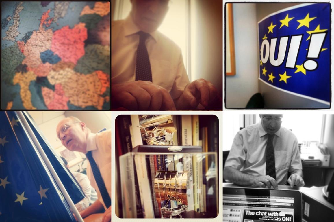 Photos d'Andrew Duff durant le chat Facebook sur les élections 2014