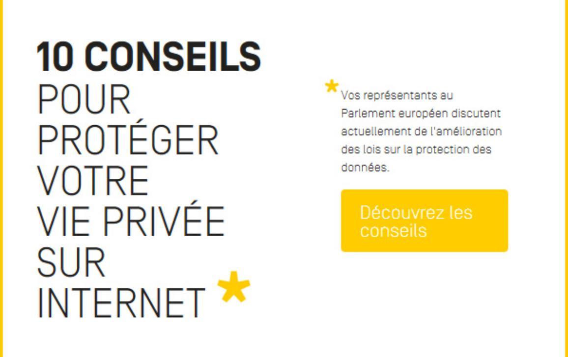 10 conseils pour protéger votre vie privée sur Internet