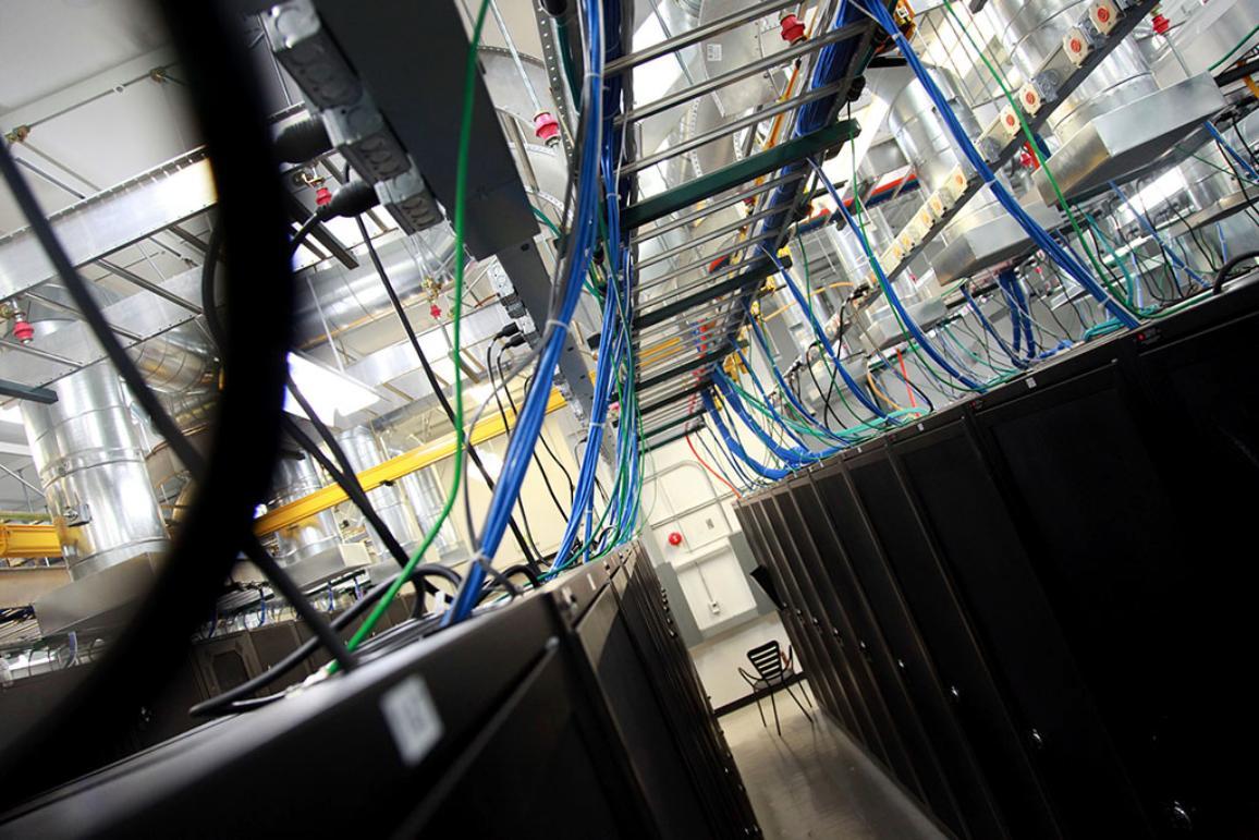 A computer server data location