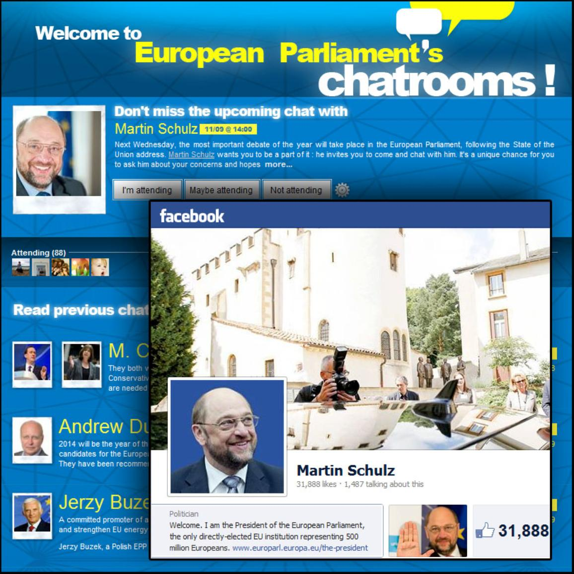 FB chat with EP President Martin Schulz